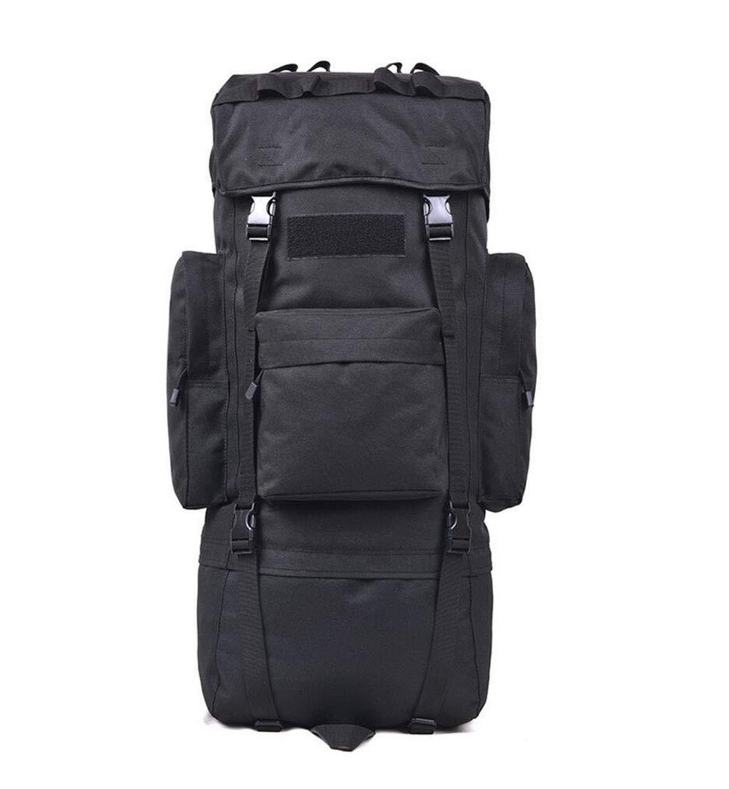 JSHFD アウトドア 登山用バッグ 大容量 バックパック トラベルバッグ 70L/115L 115L ブラック B07GFM98M9