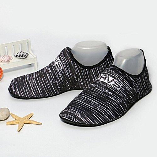 Nacome Eau Chaussures Aqua Peau Chaussures Léger Quickdry Durable Chaussettes Pour Plage Piscine Sable Natation Surf Yoga Plongée En Apnée Femmes Kid Noir