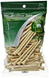 JEF World of Golf 718 3-1/4 Inch Bamboo Golf Tees (75 Pack), Natural