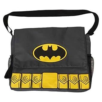 Dc Comics Warner Brothers Batman Messenger Diaper Bag - Gray [5011]