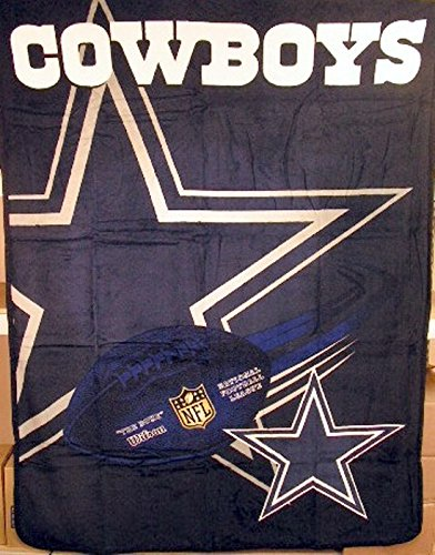 "Dallas Cowboys NFL 60""x80"" Micro Raschel Plush Throw"