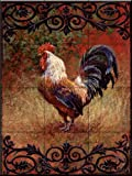 Ceramic Tile Mural - Iron Gate Rooster I - by Laurie Snow Hein - Kitchen backsplash / Bathroom shower