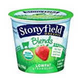 Stonyfield Farm, Yogurt Blends Strawberry Low Fat Organic, 5.3 Ounce