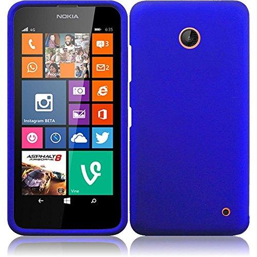 Nokia Lumia 635(At & t, T-Mobile,MetroPcs) Rubberized(Rigid plastic) Cover Case - Blue