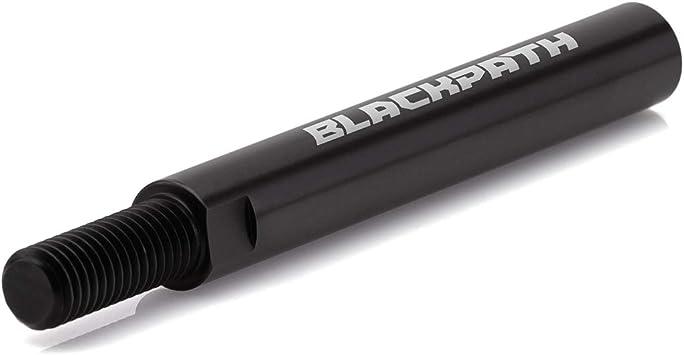 BlackPath T6 Billet Acura 4 Shifter Extender 10mm x 1.5 Threads Manual Transmission Black Fits Honda
