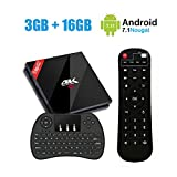 3GB 16GB Smart TV Box with Wireless Keyboard, EstgoSZ Android 7.1 Set Top Box Amlogic S912 Octa Core 64Bits Support 2.4G/5.8G WIFI 4K 3D Bluetooth 4.1/1000M LAN