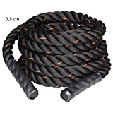 """LiveUp Sports Battle Rope - 1.5"""" Thick, 30 Feet"""