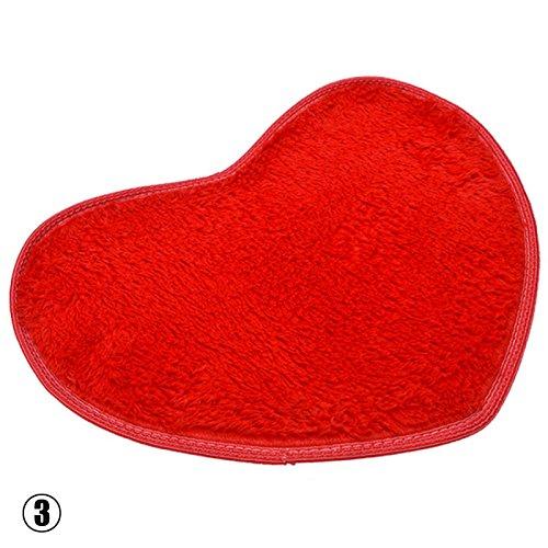 RUNGAO Cute Heart Mat Soft Absorbent Bath Bathroom Floor Shower Rug Beige
