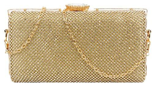 De Handbags Dorado Mujer Girly Cartera Sintético Material Para Mano BE7qwd7H
