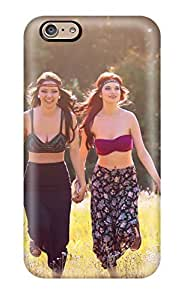 Durable Protector Case Cover With Girls In The Grass Brunettes Redheads Running Women Outdoors Smiling People Women Hot Design For Iphone 6