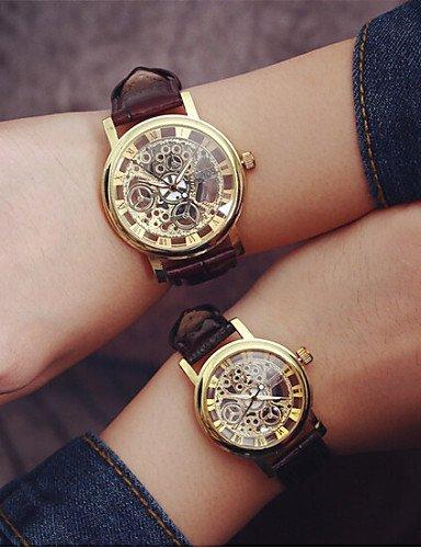2016 La moda de los hombres relojes de estudiantes simples del pareja Mixta o de las mujeres reloj esqueleto (color surtidos), 1 # -For Lady: Amazon.es: ...