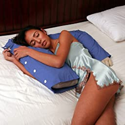 Deluxe Comfort Boyfriend Pillow Blue - A Comfortable Full Body Pillow Boyfriend / Husband - Pillow With Arms Provides Cozy Cuddles - Replace Your Boyfriend\'s Arm With A Pillow In Shining Armor - Perfect Gag Gift