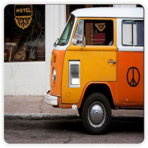 Rikki Knight Vintage Orange Volkswagen Beetle Van-Single ...