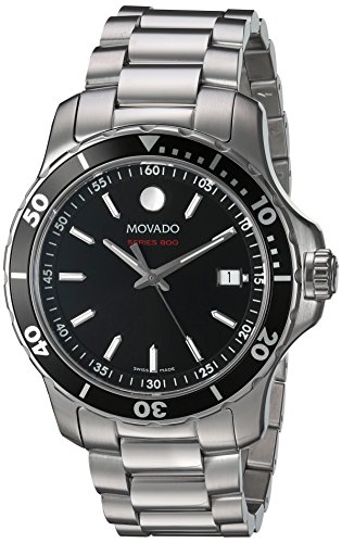 Movado Men's Swiss Quartz Stainless Steel Watch, Color:Silver-Toned (Model: 2600137)