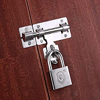 Garden Gate Shed Wooden Door Latch Barrel Bolt Hasp Lock Stainless Steel Padbolt