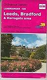 Landranger Maps: Leeds, Bradford and Harrogate Area Sheet 104 (OS Landranger Map)