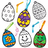 Baker Ross Easter Egg Acrylic Suncatcher Hanging Window Decoration Kit for Children to Paint - Creative Craft Set for Kids (Pack of 8)