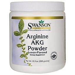 Swanson Arginine Akg Powder Lemon Flavored 12.3 oz (350 grams) Pwdr
