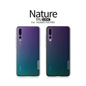 Nillkin Nature - Funda Carcasa Protectora Trasera de Gel/TPU/Silicona Flexible y Antideslizante para Huawei P20 Pro - Transparente