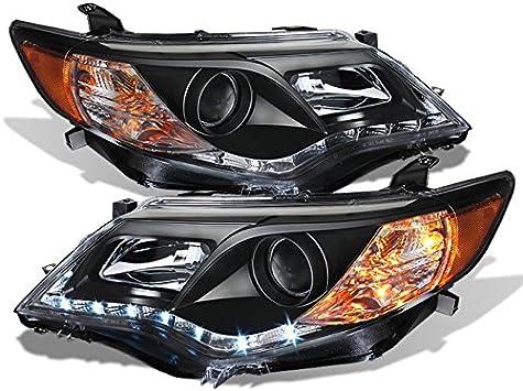 Amazon.com: Para 12 – 14 Toyota Camry XV50 negro Bazel DRL ...