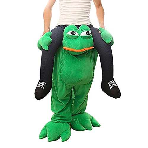 Halloween Carry Ride On Me Costume Piggy Back Shoulder Adult Frog Ride On Mascot Costume]()