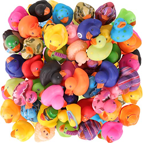 Narwhal Novelties Rubber Duck Bath Toy Assortment (50-Pack)