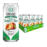 Steaz Lightly Sweetend Iced Green Tea, Peach, 16 OZ