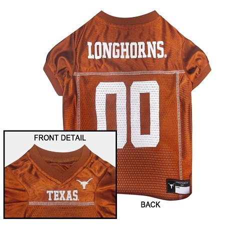 NCAA Dog Jersey, Medium, University of Texas Longhorns