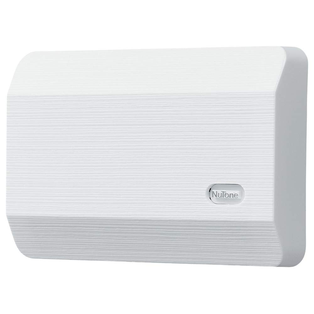 """Broan-NuTone LA11WH Wired Doorbell, Decorative Two-Note Door Chime for Home, 2.38"""" x 8.13"""" x 5.5"""", White"""
