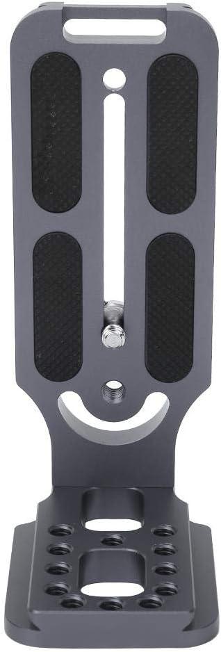 Grau Universal Vertikale Aluminiumlegierung L-Tr/ägerplatte Abnehmbare Schnellwechselplatte Topiky L-F/örmige Schnellwechselplatte Seitenplattengriff f/ür hydraulischen Kugelkopf Spiegelreflexkamera