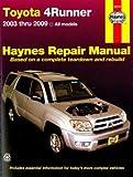 H92079 Haynes 2003-2009 Toyota 4Runner Auto Repair Manual