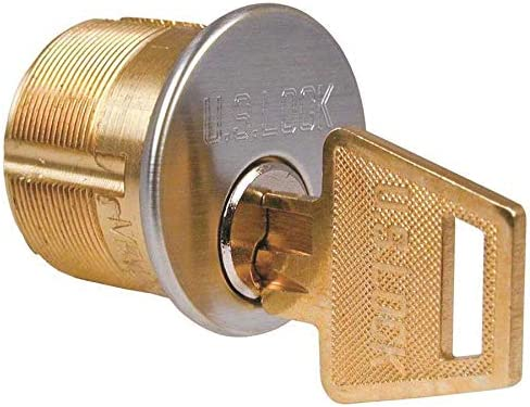 """Y1 Keyway 1/"""" Satin Chrome Yale Mortise Cylinder by Ilco"""