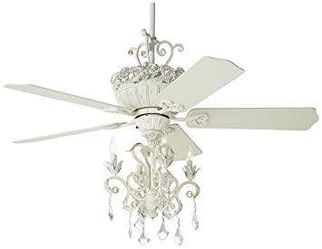 52 casa chic rubbed white chandelier ceiling fan amazon mozeypictures Choice Image
