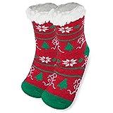 Running Christmas Slipper Sock | Running Socks by Gone For a Run | Sherpa Fleece Lined