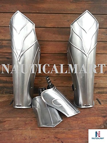 Halloween Thranduil's Armor - Steel Leg Greaves- LOTR (The Hobbit)-LARP Elven Leg Greaves - Pair by NAUTICALMART (Image #1)