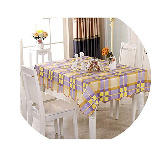 HANBINGPO Thickened Plastic Tablecloth PVC Tablecloth Waterproof Tea Table Cover Oil Cloth Tablecloths Tablecloth Anti-Greasy Table Cloth,Color 9,106x152cm