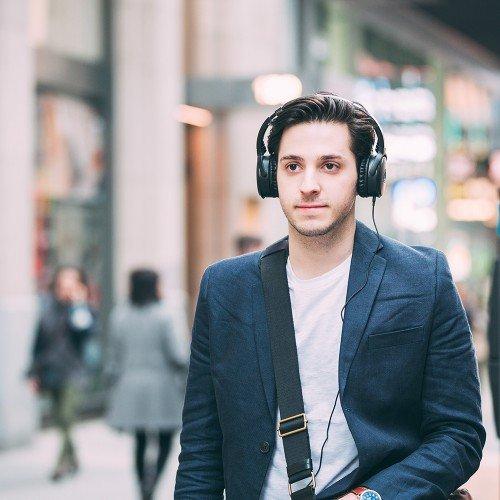 Audio-Technica ATH-ANC50iS QuietPoint Active Noise-Cancelling Headphones