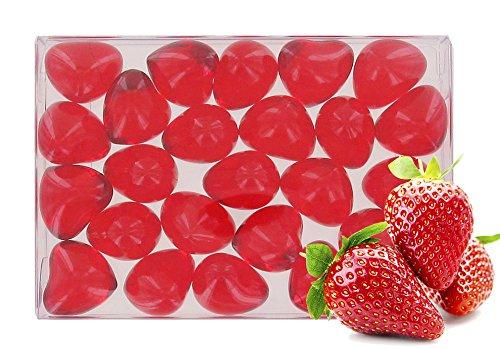 Box of 24 oil bath pearls - hearth shaped - fragrance strawberry S&B SB110BTE24COEURRGE