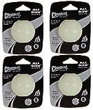 (4 Pack) CHUCKIT Max Glow Balls, Small