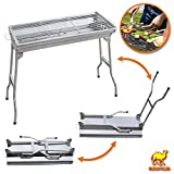 Strong Camel Foldable Large Barbecue Charcoal BBQ Grill Kabob Shashlik Cooking Stove