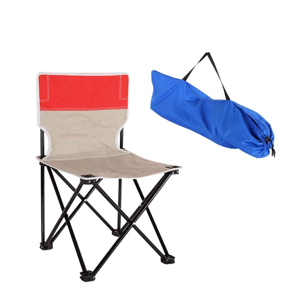 AJSKBD Chaise Pliante Extérieure Multi-Fonction Résistant à l'usure Oxford Tissu portable Imperméable Chaise Pliante Chaise en Alliage D'aluminium Matériau Peut Supporter 150Kg,S