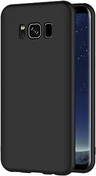 AICEK Funda Samsung Galaxy S8, Negro Silicona Fundas para ...
