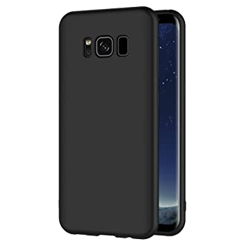 AICEK Funda Samsung Galaxy S8, Negro Silicona Fundas para Galaxy S8 Carcasa S8 (5,8 Pulgadas) Negro Silicona Funda Case