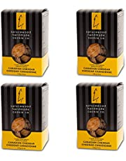 4 Pack Sprucewood Handmade Cookie Co. Classic Shortbread Cookie Biscuits Sables - Canadian Cheddar - Perfect for Breakfast, Teatime & Special Events | 170g/6 oz. - Classic Cookie Box
