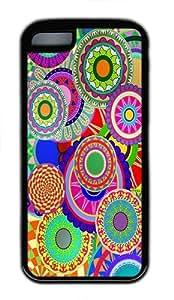IMARTCASE iPhone 5C Case, Colorful Floral Design Durable Case Cover for Apple iPhone 5C TPU Black
