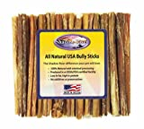Shadow River 25 Pack 6 Inch Thin All Natural Beef Bully Sticks for Dogs For Sale