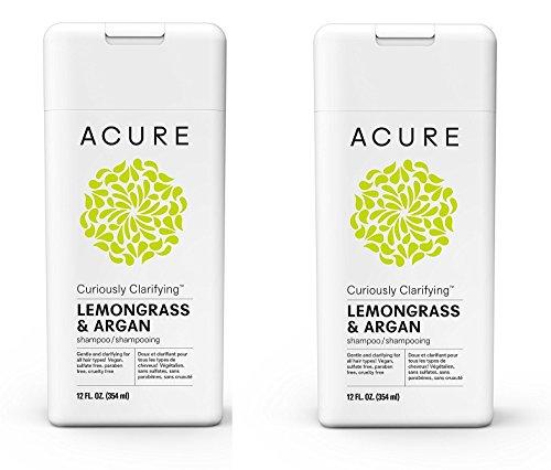 Acure Curiously Clarifying Lemongrass Shampoo, 12 Fluid Ounces - PACK/2