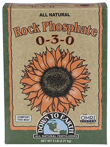 Down To Earth All Natural Organic Rock Phosphate Ferilizer 0-3-0, 5 lb