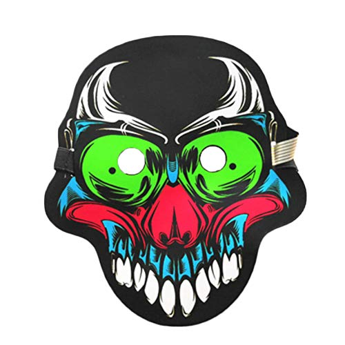(LED Cool Funny Costume Mask Halloween Luminous Animal Cosplay Scary)