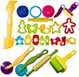 Strokes Art Durable Clay and Dough Tools 24 Piece Set Animal Shapes - Create Hours Of Creativity - Ages 3 & Up - Includes Handy Storage Bag!